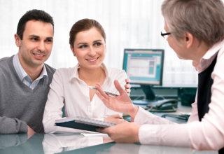 advisor advising couple